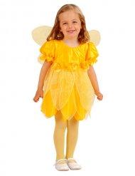 Disfarce fada das flores amarela menina