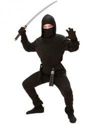 Disfarce ninja preto criança