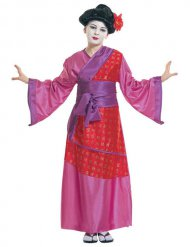 Disfarce geisha chinesa menina