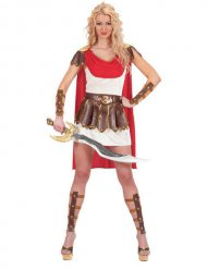 Disfarce gladiadora romana para mulher