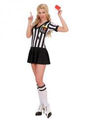 Disfarce árbitro mulher preto e branco