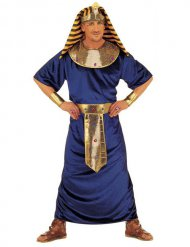 Disfarce faraó egípcio azul e dourado homem
