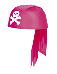 Bandana de pirata cor-de-rosa menina
