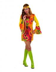 Disfarce hippie mulher amarelo
