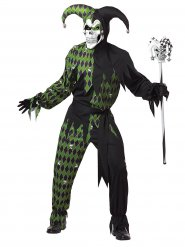 Disfarce Bobo diabólico verde homem Halloween