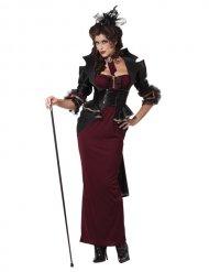 Disfarce vampira gótica Halloween mulher