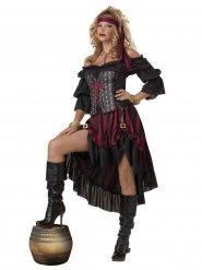 Disfarce luxuoso de pirata - mulher