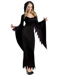 Disfarce bruxa gótica Halloween preta