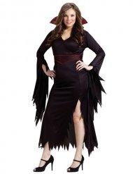 Disfarce de campira gótica Halloween mulher tamanho grande