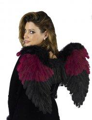 Asas anjo gótico pretas-bordeaux adulto