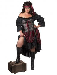 Disfarce pirata mulher tamanho grande