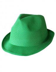 Chapéu trilby verde adulto