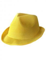 Chapéu Trilby amarelo