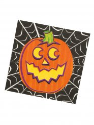 16 Guradanapos de papel Halloween cor de laranja/preto