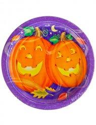 Prato Abóboras sorridentes Halloween