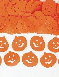 Confetis festa Halloween abóbora cor de laranja
