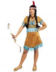 Disfarce índia com franjas azuis mulher