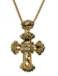 Colar com cruz gótica barroca adulto