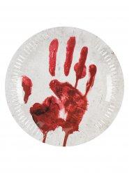 10 Pratos mão sangrenta cartão