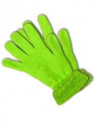 Luvas verdes fluo UV adulto
