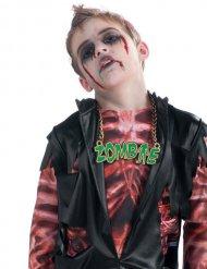 Coleira zombie verde Halloween