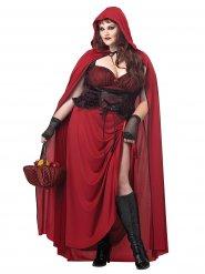 Disfarce Capuchinho vermelho gótico mulher Halloween