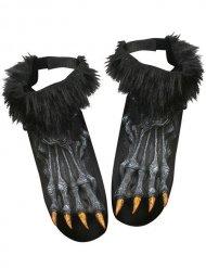 Cobre sapatos pés de lobisomem