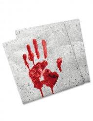 Guardanapos de papel mão sangrenta Halloween