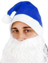 Gorro de Natal azul adulto