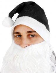 Gorro de Pai Natal preto adulto