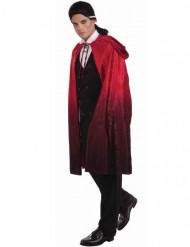 Capa de vampiro vermelha e preta com capuz