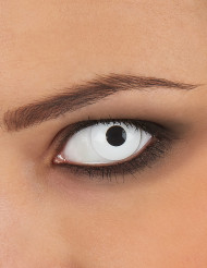 Lentes fantasia olho branco adulto