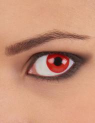 Lentes fantasia olho vermelho adulto