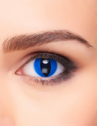 Lentes fantasia olho réptil azul adulto