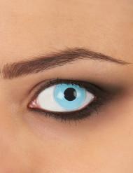 Lentes fantasia olho azul adulto 1 ano