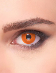 Lentes fantasia olho cor de laranja adulto