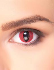 Lentes fantasia olho de dragão vermelho adulto