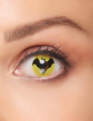 Lentes fantasia morcego preto adulto Halloween