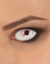 Lentes fantasia olho sangrento adulto para Halloween
