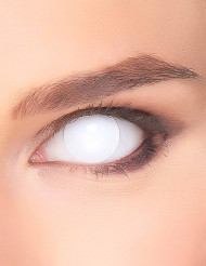 Lentes fantasia olho branco para adulto