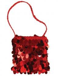 Bolsa vermelha com lantejoulas