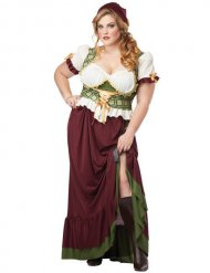 Disfarce medieval mulher tamanho grande