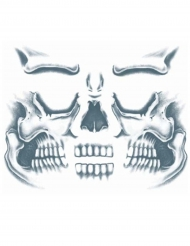 Tatuagem temporária cara esqueleto adulto