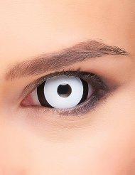 Lentes fantasia olho preto e branco adulto