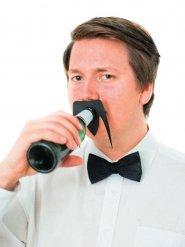 Acessório para garrafas : bigode preto