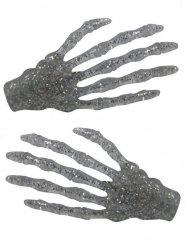 2 travessões cabelo mão de esqueleto