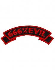 Adesivo a coser gótico 666% Evil