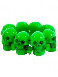 Bracelete caveira verde adulto