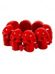 Bracelete caveira vermelha adulto