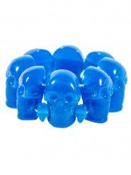Pulseira gótica caveiras azuis